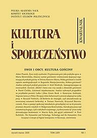 """Okładka numeru 1/2020 """"Kultury i Społeczeństwa"""""""